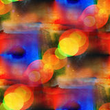 Background seamless watercolor yellow, blue Stock Photos
