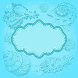 Background with seashells Royalty Free Stock Images