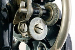 Background of a section of an old sewing machine Stock Photos