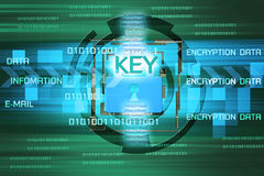 Background of security concept. Encryption information and data Royalty Free Stock Images