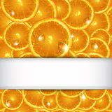 Background from segments orange with drops Royalty Free Stock Images