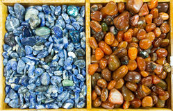 Background of semiprecious stones Royalty Free Stock Photography