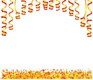 Background with serpentine and confetti Stock Photography