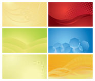 Background set. Vector set of backgrounds. gradients. can bu used for business cards Royalty Free Stock Photos