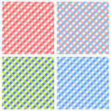 Background set. Set of 9 backgrounds with squares pattern Vector Illustration