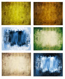 Background set. Six colored grunge background set Royalty Free Stock Photography