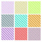 Background set. Set of 9 backgrounds with squares pattern Royalty Free Illustration