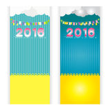 Background set blue Yellow new year 2016 card summer cloud vector be. Background blue Yellow new year 2016 card summer cloud vector beautiful cute Royalty Free Stock Photos