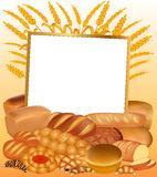 Background with a set of bread Royalty Free Stock Photo