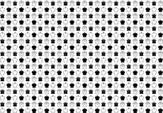Background set of chess game. Vector illustration. Black-and-white Stock Image