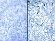 Background set. Crystals of ice. Icy glass close up. Background Stock Image