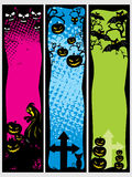Background with set of halloween banner. Background with set of spooky halloween banner, illustration royalty free illustration