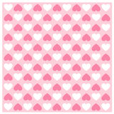 Background set Heart shape vector seamless patterns.. Background Heart shape vector seamless patterns. Romantic pink and white colors. Cover for Valentines day Stock Images