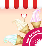 Background with a set of ice cream Royalty Free Stock Image