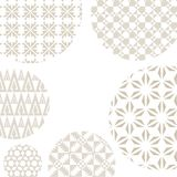 Background from set of patterns. Template for cover design, gree Stock Image