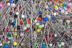 Scattered pins Stock Photos