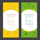 Background set Shining Yellow Green Text space with particles Vector Stock Image