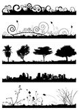 Background set vector 2. In black Royalty Free Stock Images