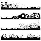 Background set vector. In black and white Stock Photo