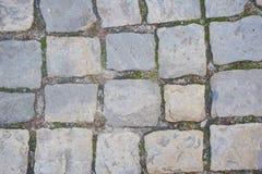 Background of sett. Cobblestone pavement Royalty Free Stock Photo