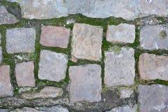 Background of sett. Cobblestone pavement Royalty Free Stock Photos