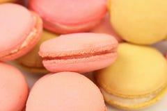 Background of several various  macaron cakes. Stock Photos