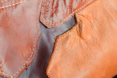 Background of sewing on leather. stock photos