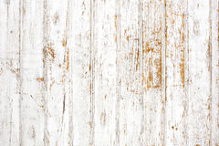 Background of shabby painted wooden plank. White stock photo