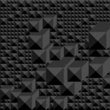Background of shades of black in the form of a graphic geometric volume mosaic. stock illustration