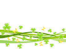 Background with shamrock Stock Image