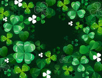 Background with shamrock Royalty Free Stock Image