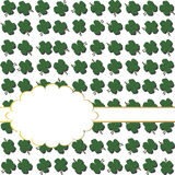 Background with shamrocks and place for text Stock Photo