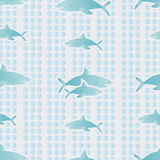 Background with sharks Stock Photos
