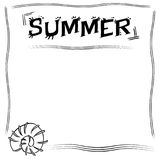 Background shells with word SUMMER stock image