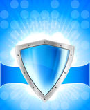 Background with shield Royalty Free Stock Photo