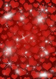 Background with shines, sparks, heart Royalty Free Stock Photos