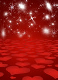 Background with shines, sparks, heart Royalty Free Stock Image