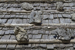 Background - shingle on a roof Stock Image