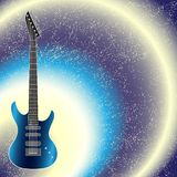 Vector background with guitar Royalty Free Stock Images