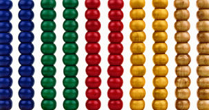 Background with shiny beads of an abacus Royalty Free Stock Images