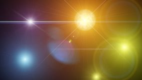 Background with shiny colored lights. Night background with colored lights and bright rays of great effect Stock Photos