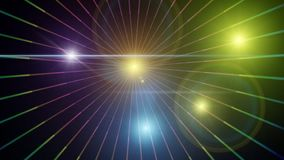 Background with shiny colored lights. Night background with colored lights and bright rays of great effect Royalty Free Stock Photos