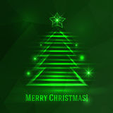 Background with shiny fir tree Stock Photography