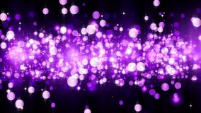 Background with shiny magenta particles. Beautiful bokeh light background. Magenta confetti shimmering with magical sparkling. Light. Seamless loop stock illustration