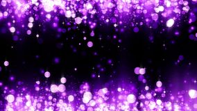 Background with shiny magenta particles. Glittering particles. Beautiful bokeh light background. Magenta confetti shimmering. With magical sparkling light royalty free illustration