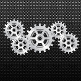 Background with shiny metallic gears Royalty Free Stock Photo