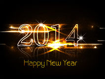 Background for shiny New year 2014 colorful celebr. Ation card Stock Illustration