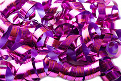 Background of shiny purple color streamers holiday Royalty Free Stock Images