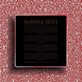 Background with shiny red sequins. Eps 10. Stock Photo
