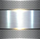Background, shiny silver metallic Stock Photo
